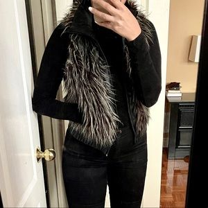 VERO MODA faux fur vest with zipper